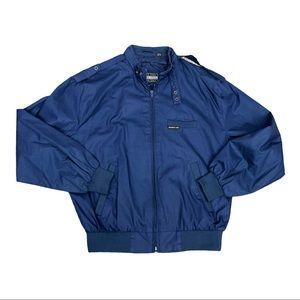 Vintage Members Only Blue Bomber Jacket Sz Medium